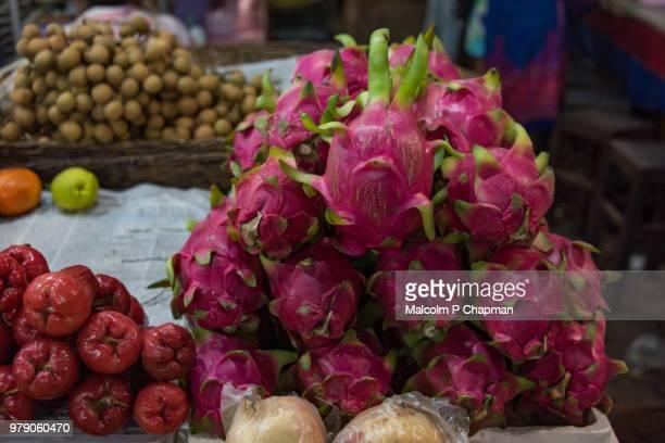 Dragonfruit (Pitaya), Siem Reap Market, Cambodia