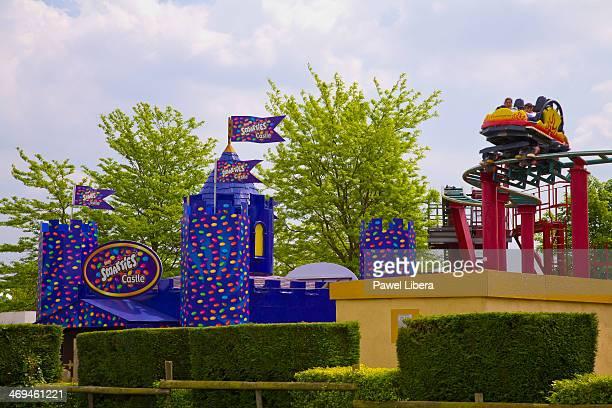 Dragon's Fury rollercoaster at Chessington World of Adventures Surrey UK