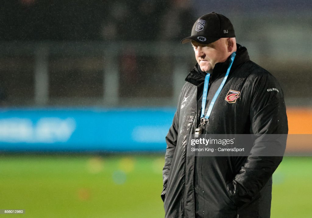 Dragons' Head Coach Bernard Jackman during the Guinness Pro14 Round 5 match between Dragons and Southern Kings at Rodney Parade on September 30, 2017 in Newport, Wales.