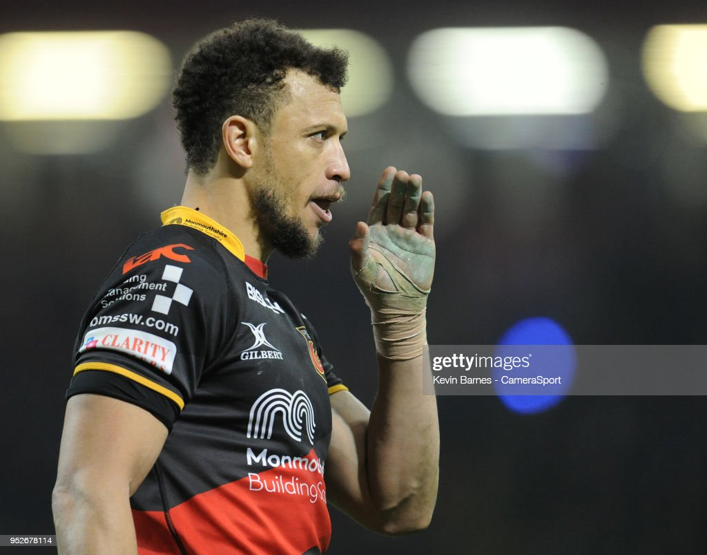 Dragons' Zane Kirchner during the Guinness PRO14 Round 21 Judgement Day VI match between Cardiff Blues and Ospreys at Principality Stadium at Principality Stadium on April 28, 2018 in Cardiff, Wales.