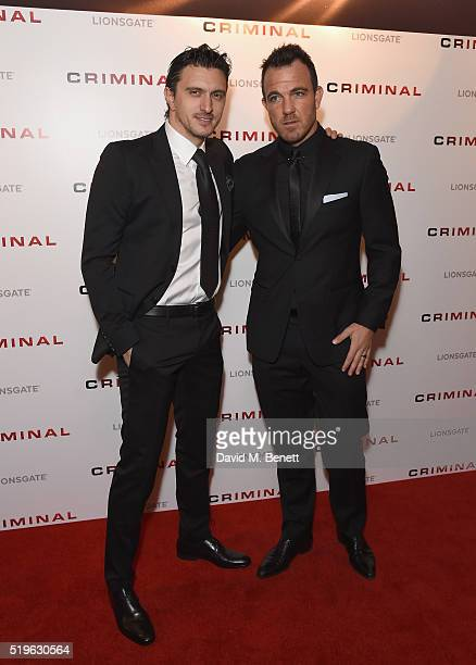 Dragos Savulescu attends the UK Premiere of 'Criminal' at The Curzon Mayfair on April 7 2016 in London England