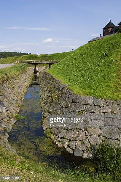 drainage ditch - ditch stock photos and pictures