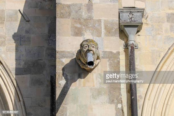 Drainage pies on Chichester Cathedral