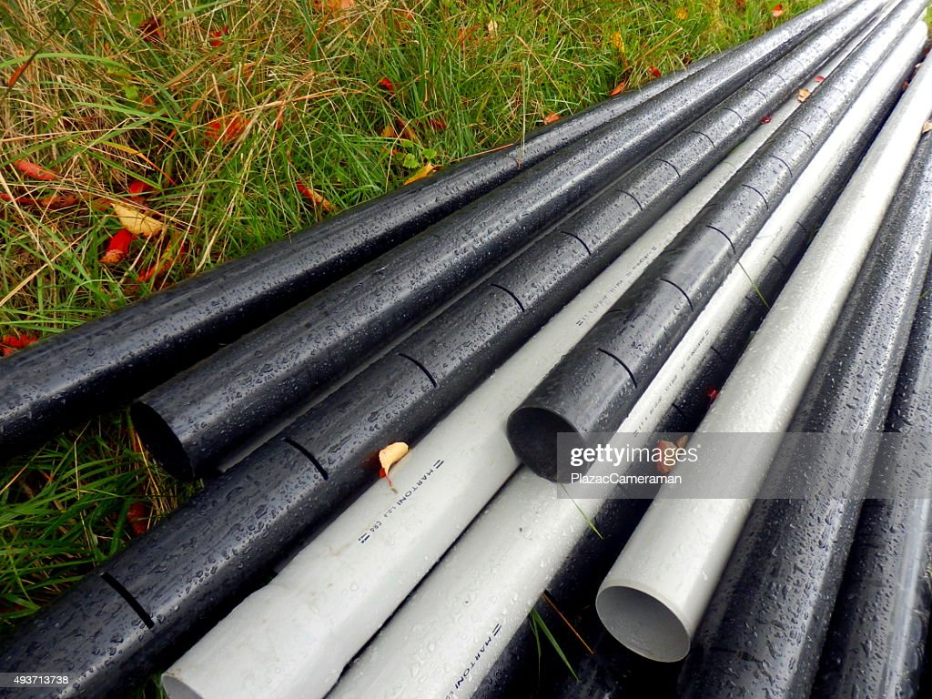 Drainage Pipes Stock Photo