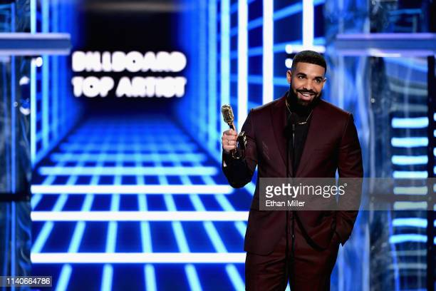 Drake accepts Top Artist onstage during the 2019 Billboard Music Awards at MGM Grand Garden Arena on May 1 2019 in Las Vegas Nevada