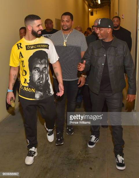 Drake and Alex Gidewon attend a party at Empire on May 7 2018 in Atlanta Georgia