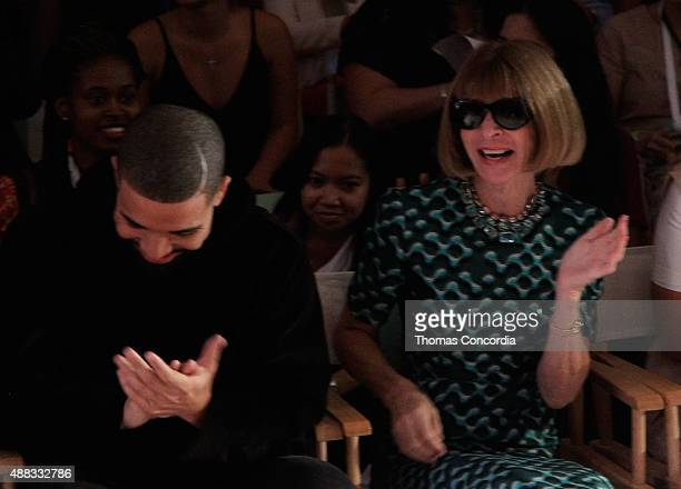 Drake and Anna Wintour attend as KIA STYLE360 Hosts Serena Williams Signature Collection By HSN on September 15 2015 in New York City