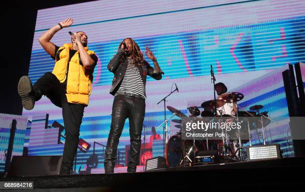 Drake and Future during day 2 of the Coachella Valley Music And Arts Festival at the Empire Polo Club on April 15 2017 in Indio California