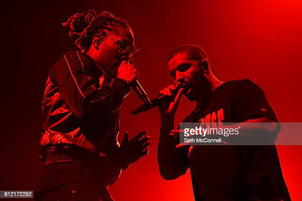 Drake and Future perform at the Pepsi Center in Denver Colorado on October 2 2016