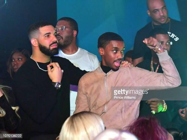 Drake and Future the Prince attends Future's 'Future City' Birthday Party at Magic City on November 20 2018 in Atlanta Georgia