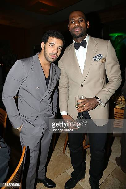 Drake and LeBron James attend The Two Kings Dinner presented by Sprite at RDG Bar Annie on February 16 2013 in Houston Texas