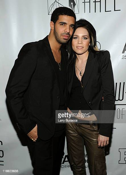 Drake and Skylar Grey attend the Songwriters Hall of Fame 42nd Annual Induction and Awards at The New York Marriott Marquis Hotel Shubert Alley on...