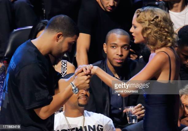 Drake and Taylor Swift attend the 2013 MTV Video Music Awards at the Barclays Center on August 25 2013 in the Brooklyn borough of New York City