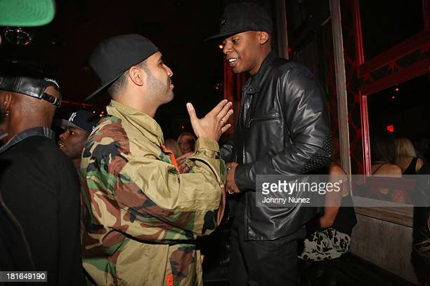 Drake and Tyran 'Ty Ty' Smith attend Kevin Durant's 25th Birthday Party at Avenue on September 22 2013 in New York City