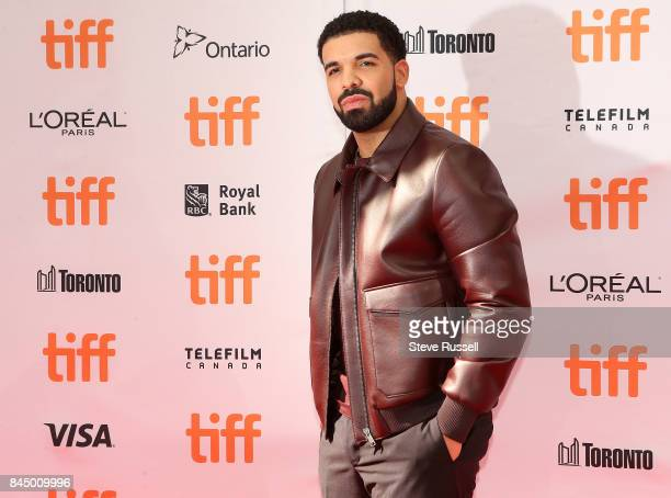 TORONTO ON SEPTEMBER 9 Drake at the red carpet for the movie The Carter Effect at the Winter Garden and Elgin Theatres during the Toronto...