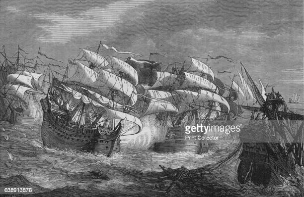 Drake Attacking the Spanish Treasure Ship' c1578 Sir Francis Drake was an English sea captain privateer navigator slaver and politician of the...
