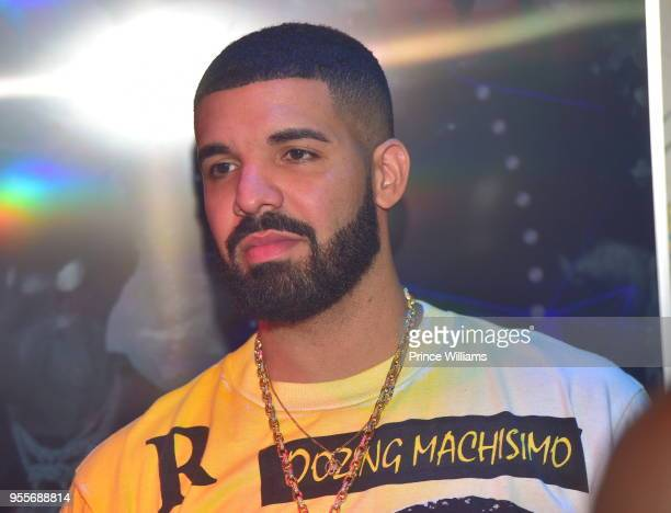 Drake attends a Party at Empire on May 7 2018 in Atlanta Georgia