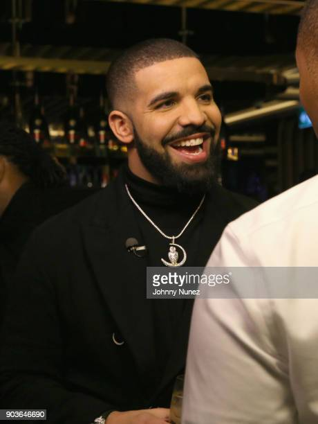 Drake attends as Drake And OVO Chubbs Host Friends and Family Event Of New Restaurant Pick 6IX With The House Of Remy Martin on January 10 2018 in...