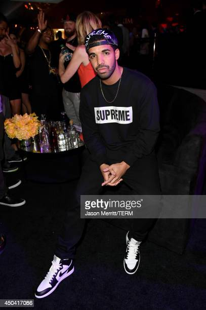 Drake attends Maxim's Hot 100 Women of 2014 celebration and sneak peek of the future of Maxim at Pacific Design Center on June 10 2014 in West...