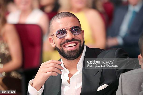 Drake attends the 2016 American Music Awards at Microsoft Theater on November 20 2016 in Los Angeles California