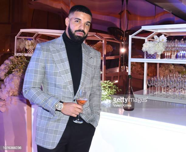 Drake attends The Mod Sèlection Champagne New Years Party Hosted By Drake And John Terzian at Delilah on December 31 2018 in Los Angeles California