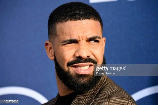 Drake attends the LA Premiere Of HBO's Euphoria at The Cinerama Dome on June 04 2019 in Los Angeles California