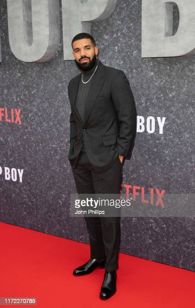 Drake attends the Top Boy UK Premiere at Hackney Picturehouse on September 04 2019 in London England