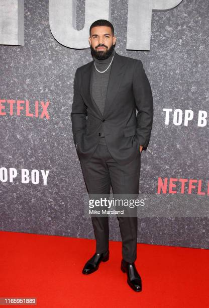 Drake attends the Top Boy UK Premiere at Hackney Picturehouse on September 4 2019 in London England