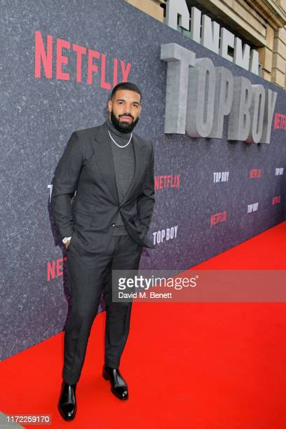 Drake attends the UK Premiere of Top Boy at the Hackney Picturehouse on September 04 2019 in London England