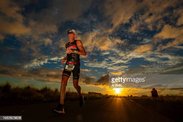 Drake Austin competes during the run portion of the IRONMAN World Championships brought to you by Amazon on October 13 2018 in Kailua Kona Hawaii