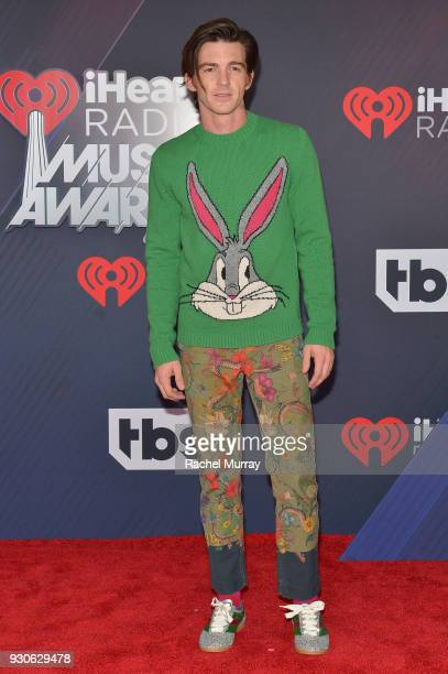 Drake Bell arrives at the 2018 iHeartRadio Music Awards which broadcasted live on TBS TNT and truTV at The Forum on March 11 2018 in Inglewood...