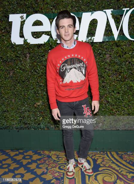 Drake Bell attends Teen Vogue's Young Hollywood Party Presented By Snap at Los Angeles Theatre on February 15 2019 in Los Angeles California