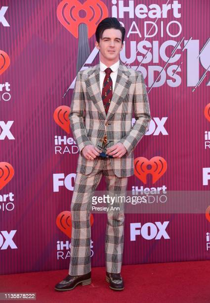 Drake Bell attends the 2019 iHeartRadio Music Awards which broadcasted live on FOX at Microsoft Theater on March 14, 2019 in Los Angeles, California.