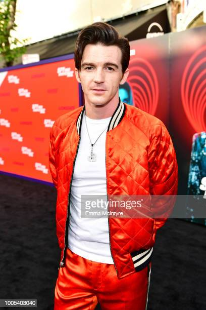 Drake Bell attends the premiere of Lionsgate's 'The Spy Who Dumped Me' at Fox Village Theater on July 25 2018 in Los Angeles California