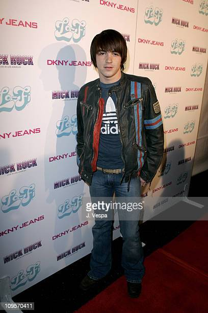 Drake Bell during DKNY Jeans Presents Mick Rock Live in LA Exhibit at the LoFi Gallery at LoFi in Los Angeles California United States