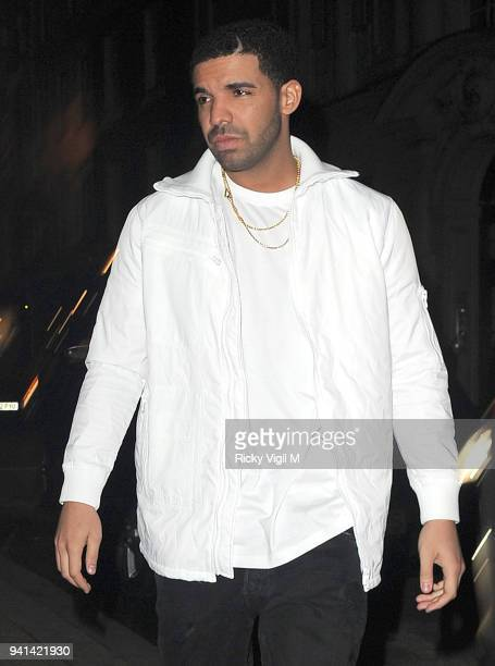 Drake departs Tramp night club on March 26 2014 in London England