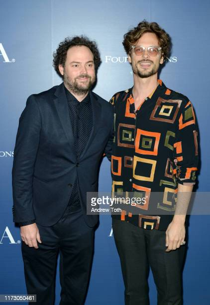 Drake Doremus and Matthew Gray Gubler attend The Hollywood Foreign Press Association and The Hollywood Reporter party at the 2019 Toronto...