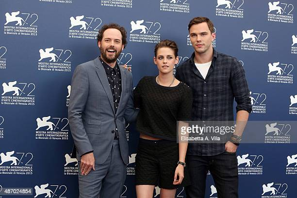 Drake Doremus Kristen Stewart and Nicholas Hoult attend a photocall for 'Equals' during the 72nd Venice Film Festival at Palazzo del Casino on...