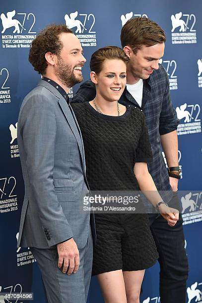 Drake Doremus Kristen Stewart and Nicholas Hoult attend the photocall of 'Equals' during the 72nd Venice Film Festival at Sala Grande on September 5...