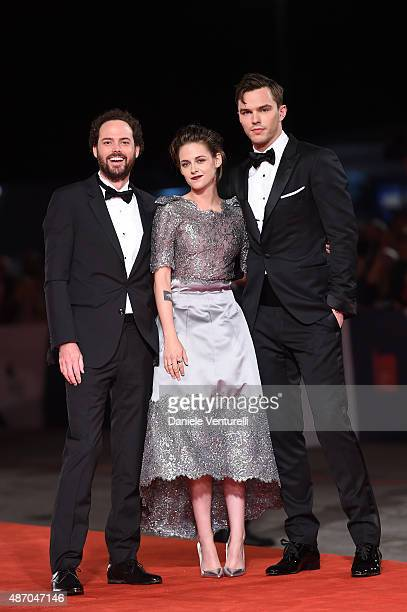 Drake Doremus, Nicholas Hoult and Kristen Stewart attend the premiere of 'Equals' during the 72nd Venice Film Festival at the Sala Grande on...