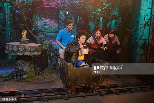 LIVE Drake Episode 1652 Pictured Drake as host Nasim Pedrad as Rahat Beck Bennett Mike O'Brien as tribesmen during the Disney World Show on January...