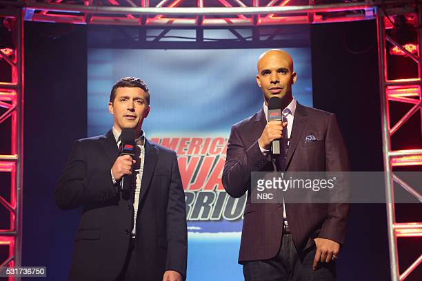 LIVE Drake Episode 1703 Pictured Beck Bennett as Matt Iseman and Drake as Akbar Gbajabiamila during the American Ninja Warrior sketch on May 14 2016