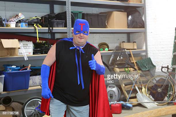 LIVE Drake Episode 1703 Pictured Bobby Moynihan as Jeff Metcalf during the American Ninja Warrior sketch on May 14 2016