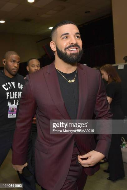 Drake is seen backstage during the 2019 Billboard Music Awards at MGM Grand Garden Arena on May 1 2019 in Las Vegas Nevada