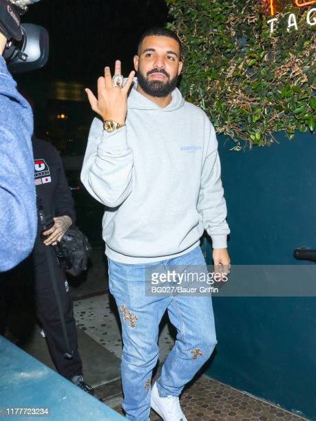 Drake is seen on October 23, 2019 in Los Angeles, California.