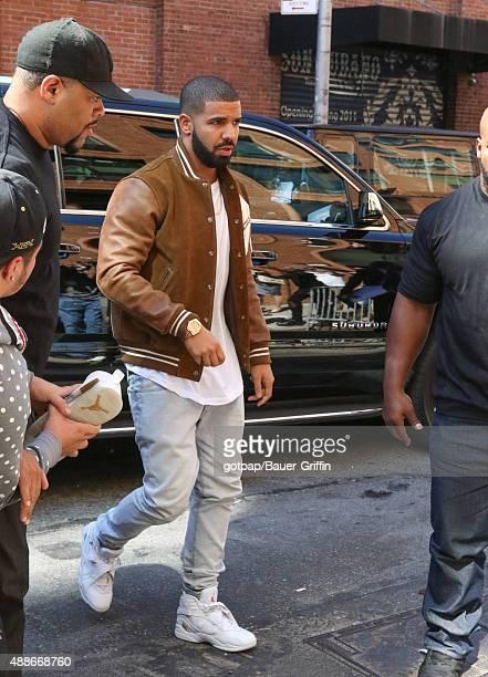 Drake is seen on September 16 2015 in New York City