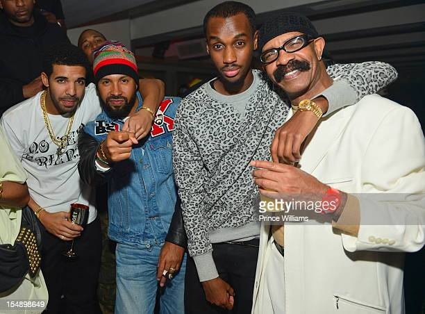 Drake Kenny Burns Future the Prince and Dennis Graham attend Drake's official birthday celebration at Club Compound on October 20 2012 in Atlanta...
