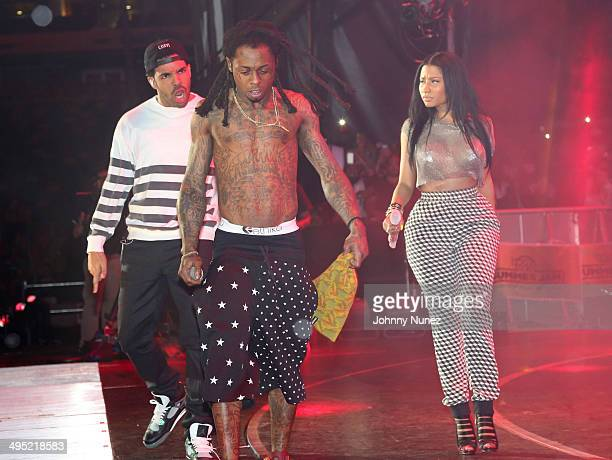 Drake Lil Wayne and Nicki Minaj perform in concert during Hot 97 Summer Jam 2014 at MetLife Stadium on June 1 2014 in East Rutherford City