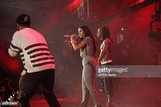 Drake Nicki Minaj and Lil Wayne perform in concert during Hot 97 Summer Jam 2014 at MetLife Stadium on June 1 2014 in East Rutherford City