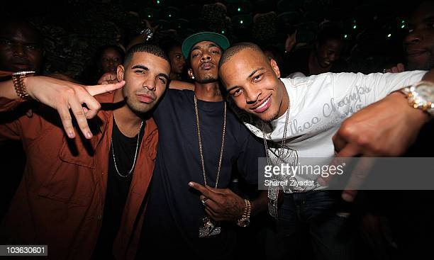 Drake Nipsey Hussle and TI visit Greenhouse on August 24 2010 in New York City